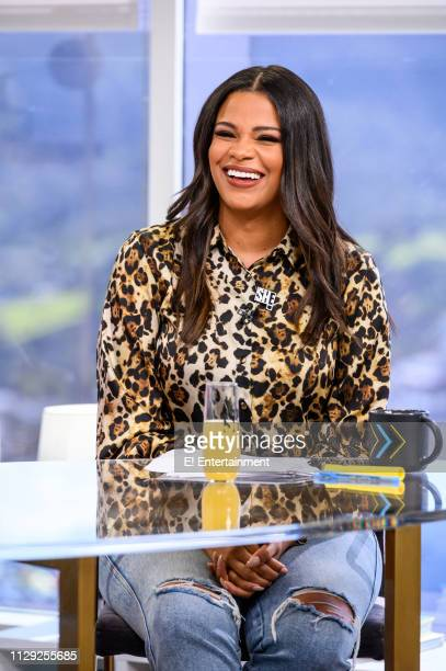 Episode 190308 -- Pictured: Daily Pop guest Co-Host Kamie Crawford reacts on set --