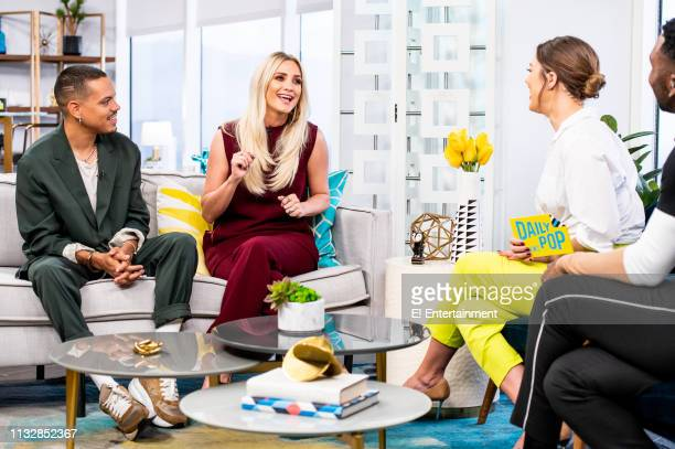 Musical Artists Evan Ross and Ashlee Simpson talk about their new single 'Phases' with Daily Pop CoHost Carissa Culiner on set