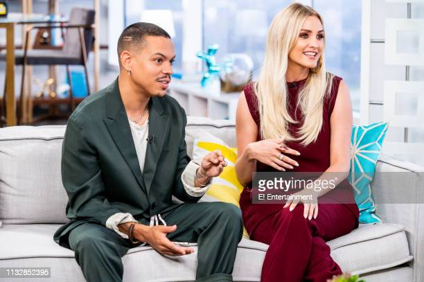 Musical Artists Evan Ross and Ashlee Simpson talk about their new single 'Phases' on set