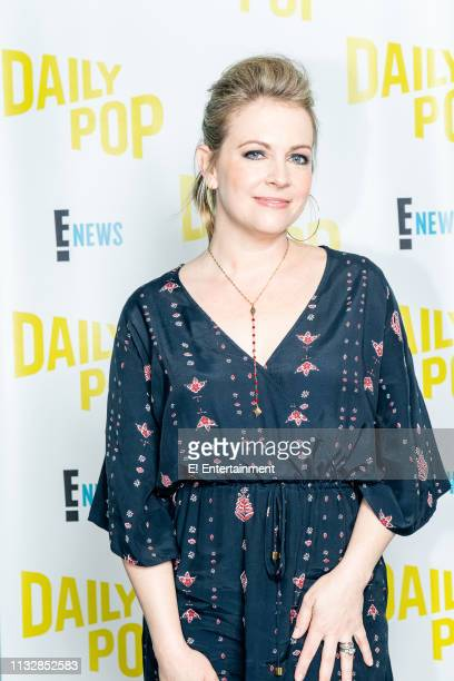 Melissa Joan Hart poses for a photo on set