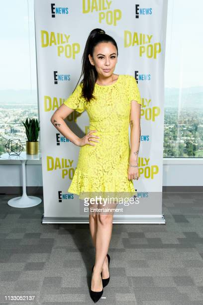 """Episode 190326 -- Pictured: Actress Janel Parrish of """"Pretty Little Liars: The Perfectionists"""" poses for a photo on set --"""