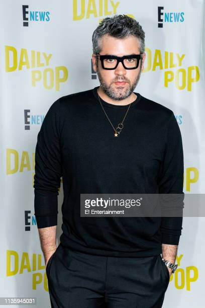 Designer Brandon Maxwell of Project Runway poses for a photo on set