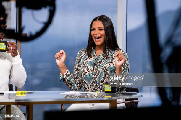 Episode 190404 -- Pictured: Daily Pop Guest Co-Host Kamie Crawford reacts on set --