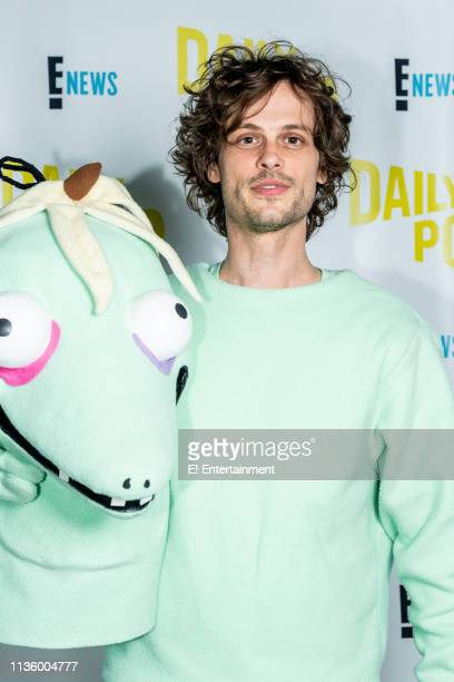 Matthew Gray Gubler author of Rumple Buttercup a Story of Bananas Belonging and Being Yourself poses for a photo on set