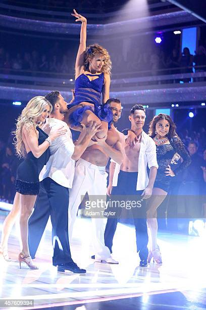 STARS 'Episode 1906' International superstar Pitbull returned to the ballroom and for the first time joined Julianne Hough Carrie Ann Inaba and Bruno...