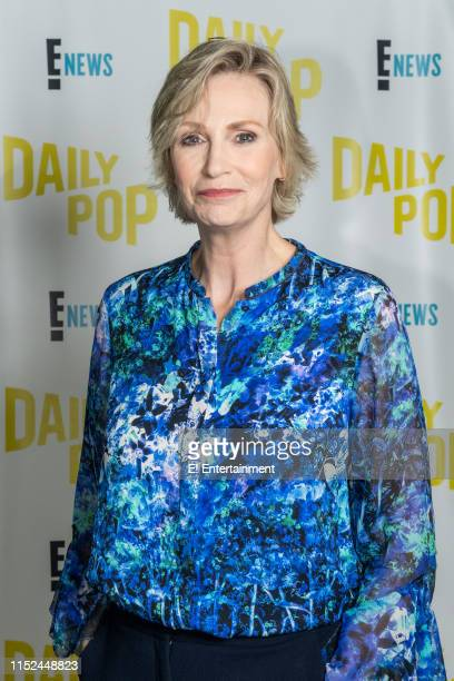 Actress Jane Lynch poses for a photo on set