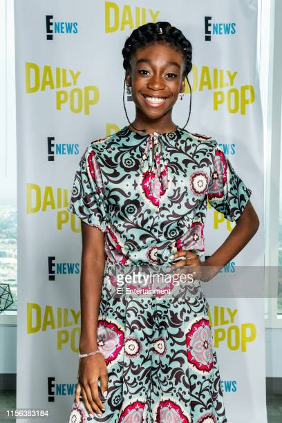 Episode 190709 -- Pictured: Actress Shahadi Wright Joseph poses for a photo on set --