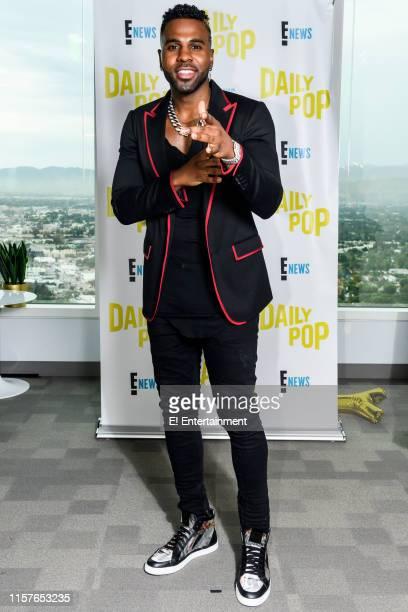 Jason Derulo poses for a photo on set