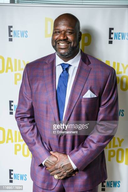 Episode 190912 -- Pictured: Daily Pop guest Shaquille O'Neal on the set of Daily Pop --