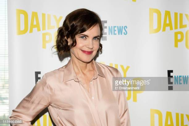 Episode 190923 -- Pictured: Elizabeth McGovern of Downton Abbey on the set of Daily Pop --
