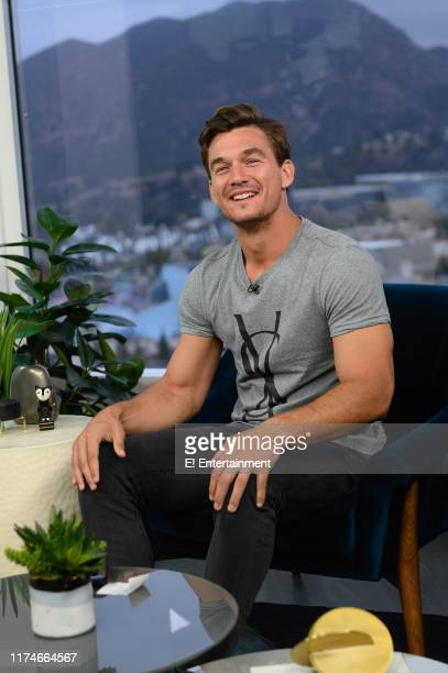Tyler Cameron of The Bachelorette on the set of Daily Pop