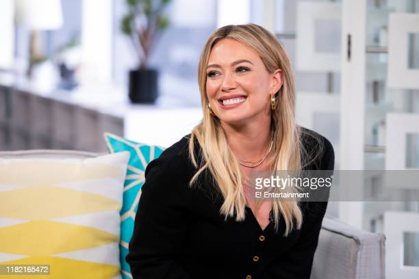 """Episode 191112 -- Pictured: Hilary Duff stops by the Daily Pop set to chat about """"Lizzie McGuire: Younger"""" --"""