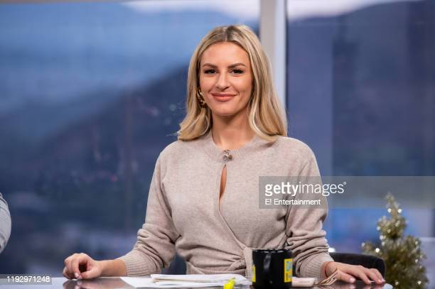 Daily Pop CoHost Morgan Stewart poses for a photo on set