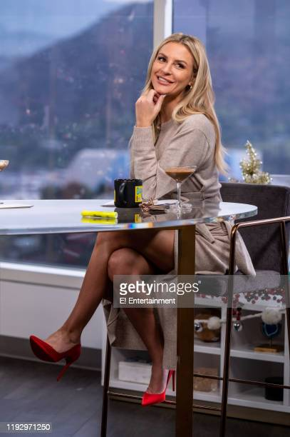 Daily Pop CoHost Morgan Stewart poses on set