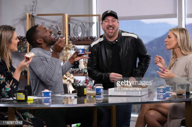 Daily Pop CoHosts Carissa Culiner and Justin Sylvester are joined by Joey Fatone and CoHost Morgan Stewart at the Daily Pop desk