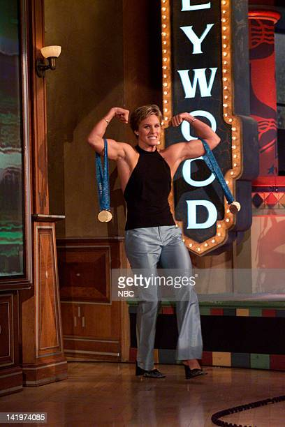 Olympic swimmer Jenny Thompson enters on October 6 2000