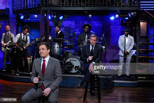 FALLON Episode 192 Airdate Pictured Host Jimmy Fallon during a skit with news anchor Brian Williams on February 5 2010