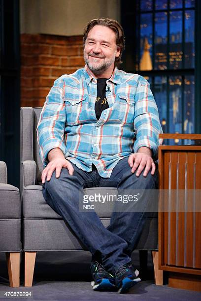 Actor Russell Crowe during an interview on April 23 2015