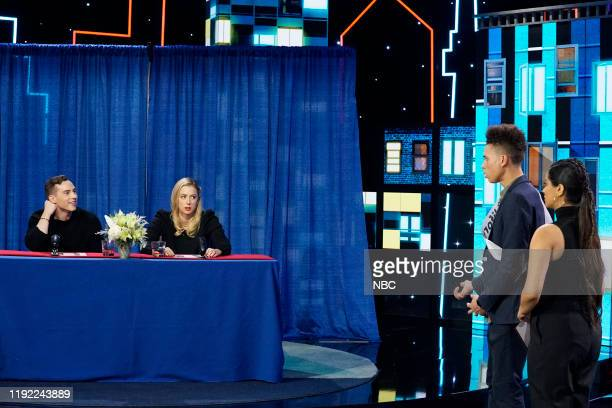 Episode 195 -- Pictured: Adam Rippon, Iliza Shlesinger, Lilly Singh --