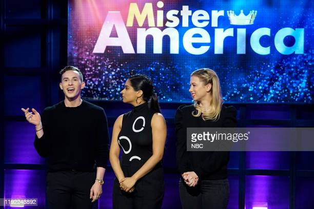 Episode 195 -- Pictured: Adam Rippon, Lilly Singh, Iliza Shlesinger --