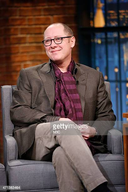 Actor James Spader during an interview on April 27 2015