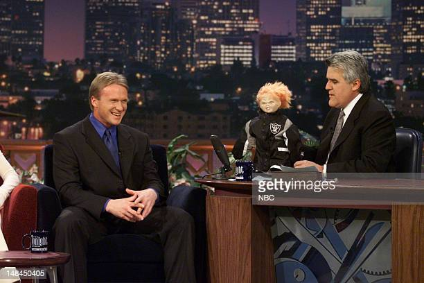 Raiders head coach Jon Gruden during an interview with host Jay Leno on January 22 2001
