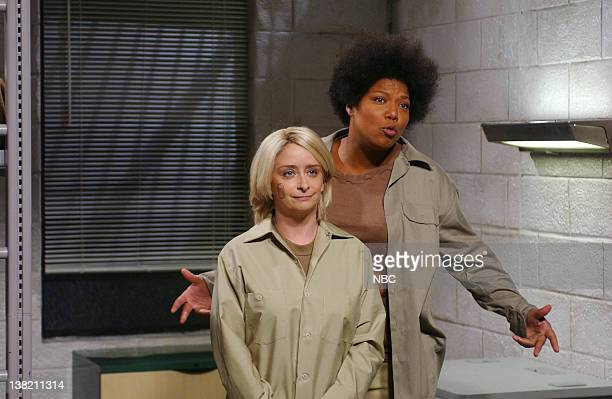LIVE Episode 2 Aired Pictured Rachel Dratch as Martha Stewart Queen Latifah as Kinyata Williams during Weekend Update