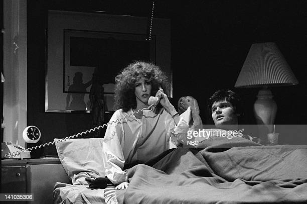 Laraine Newman as Mary Fred Willard as Delivery Man during the 'Five AM' skit on October 14 1978 Photo by NBC/NBCU Photo Bank
