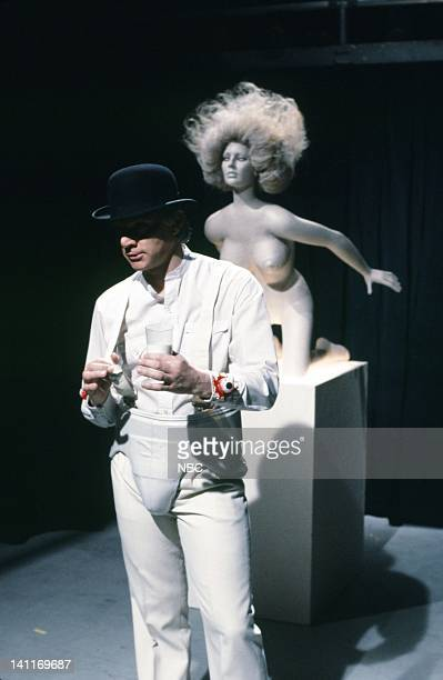 Malcolm McDowell as Alex de Large during the 'American Milk Association' skit on November 22 1980 Photo by NBC/NBCU Photo Bank