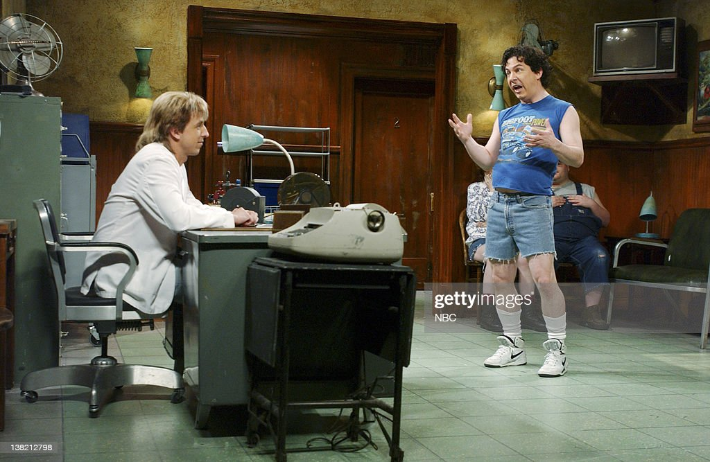 Seth meyers as nerod chris parnell as tyler during 39 appalachian news photo getty images for Saturday night live appalachian emergency room