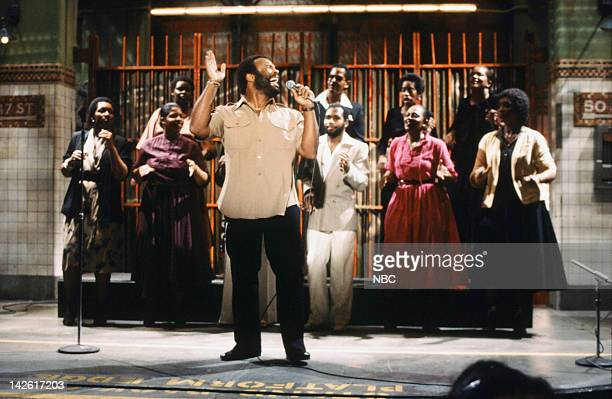 Musical guest Andrew Crouch and The Voices of Unity performs on May 241980
