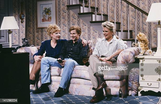 Victoria Jackson as Brenda Clark Dana Carvey as Lyle Clark Candice Bergen as Spunky's Owner during the 'Toonces The Cat Who Could Drive A Car' skit...