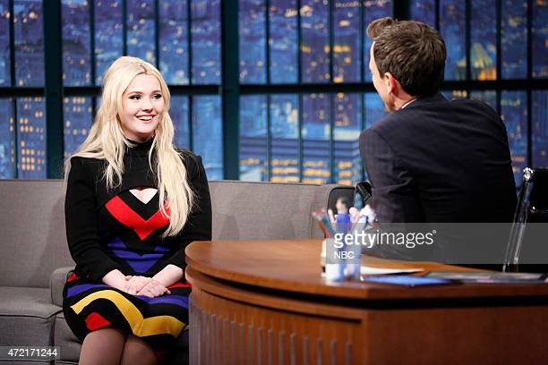 Actress Abigail Breslin during an interview with host Seth Meyers on May 4 2015