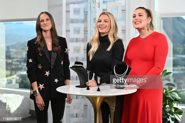 Jewelry Designer Stephanie Gottlieb stops by the set to show the seasons trends to Daily Pop CoHosts Morgan Stewart and Carissa Culiner