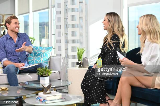 """The Bachelor"" Peter Weber fields questions from Daily Pop CoHosts Carissa Culiner and Morgan Stewart on set"
