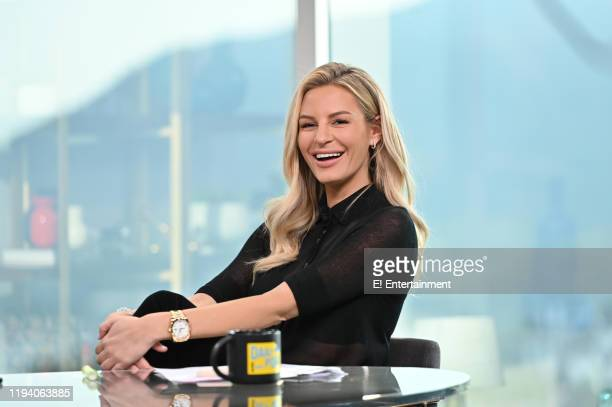 Daily Pop CoHost Morgan Stewart reacts on set