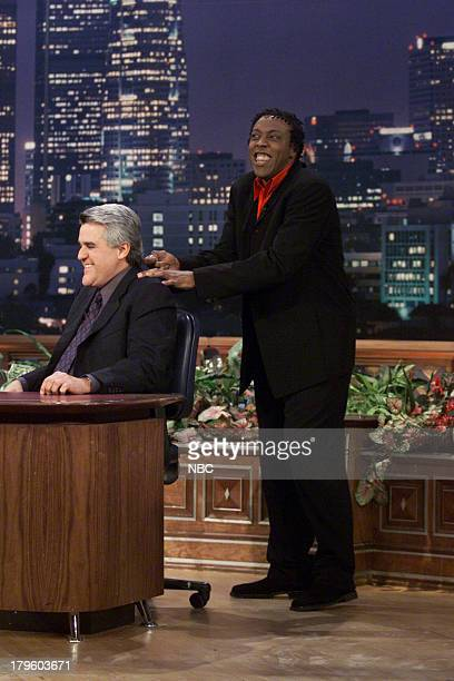 Actor/Comedian Arsenio Hall during an interview with host Jay Leno on February 16 2001