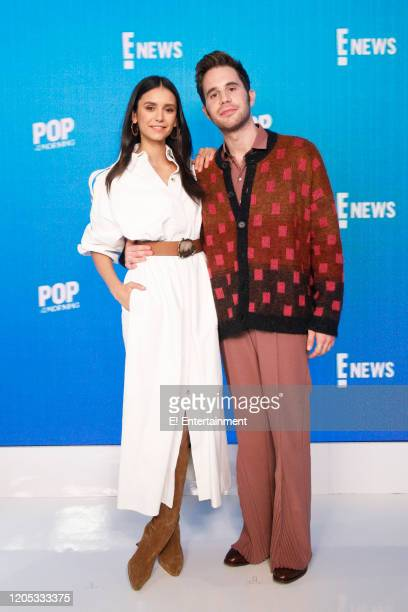 Ben Platt and Nina Dobrev on March 5 2020