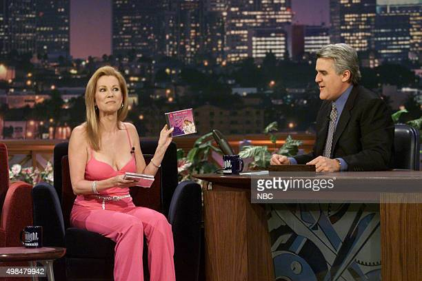 TV Host Kathie Lee Gifford during an interview with host Jay Leno on February 23 2001