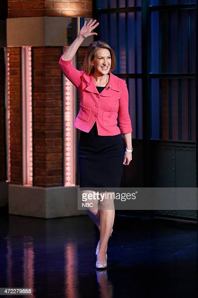 Episode 201 -- Pictured: Republican presidential candidate, Carly Fiorina arrives on May 5, 2015 --