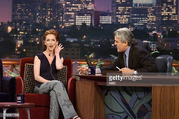 Actress Jennifer Love Hewitt during an interview with host Jay Leno on March 16 2001