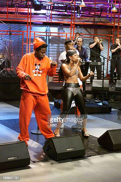 Musical guest Trick Daddy and Trina perform on April 9 2001