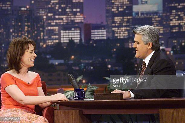 Actress Jane Kaczmarck during an interview with host Jay Leno on April 10 2001