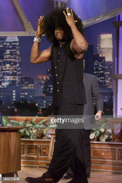 Basketball player Shaquille O'Neal arrives on April 11 2001
