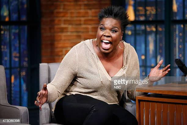 Episode 205 -- Pictured: Leslie Jones, SNL cast member, during an interview on May 12, 2015 --