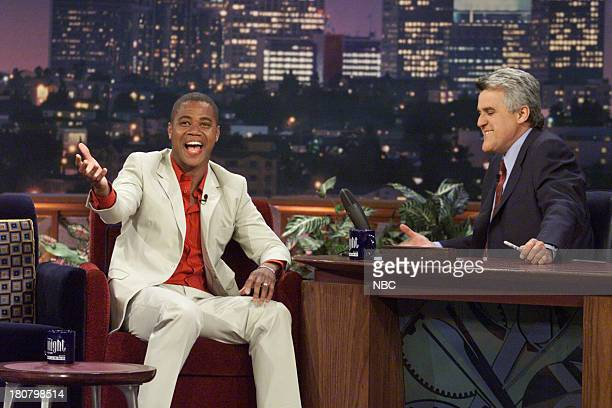 Actor Cuba Gooding Jr during an interview with host Jay Leno on May 2 2001