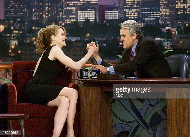 Actress Nicole Kidman during an interview with host Jay Leno on May 16 2001