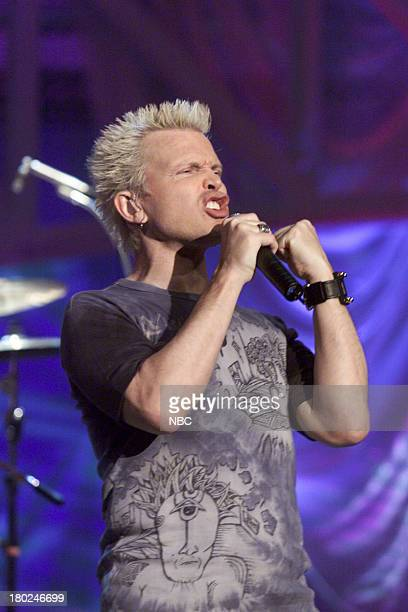Episode 2061 -- Pictured: Musical guest Billy Idol performs on May 18, 2001 --