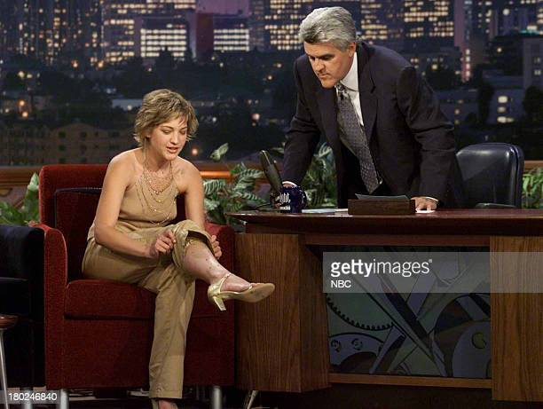 Actress Colleen Haskell during an interview with host Jay Leno on May 22 2001