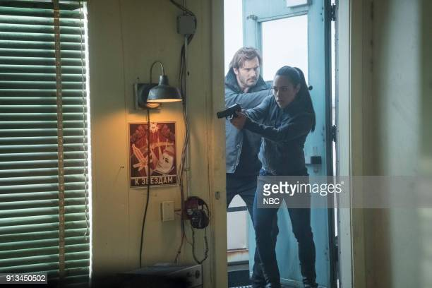 Episode 207 -- Pictured: Clive Standen as Bryan Mills, Jessica Camacho as Santana --